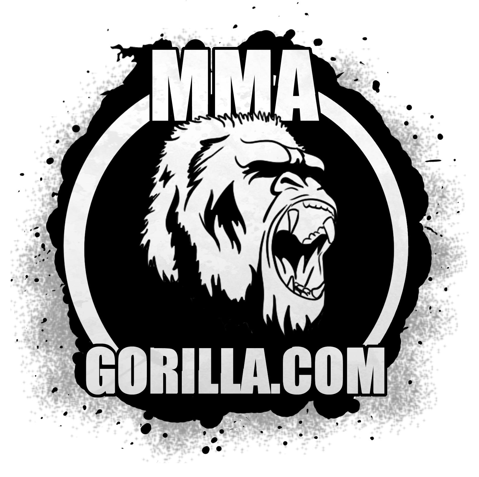 mma gorilla logo jepeg  b&w