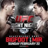 UFC Fight Night Bigfoot vs. Mir