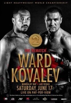 Ward vs Kovalev Two this sat. June 17th